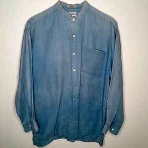 Men's Gigolo Linen Grandfather Shirt